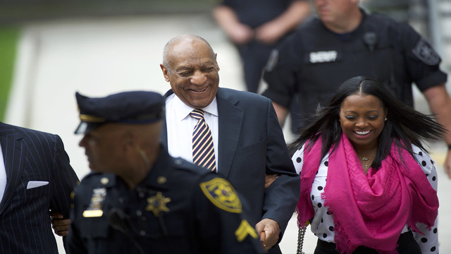 Bill Cosby arrives at court for first day of trial