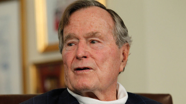 former President George HW Bush in March 201203400044