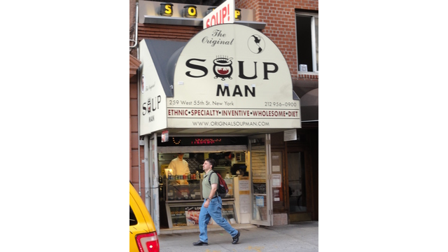 Company inspired by real 'Soup Nazi' files for bankruptcy