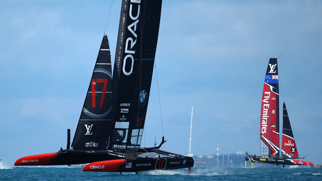 Kiwis beat Oracle in first two races of America's Cup