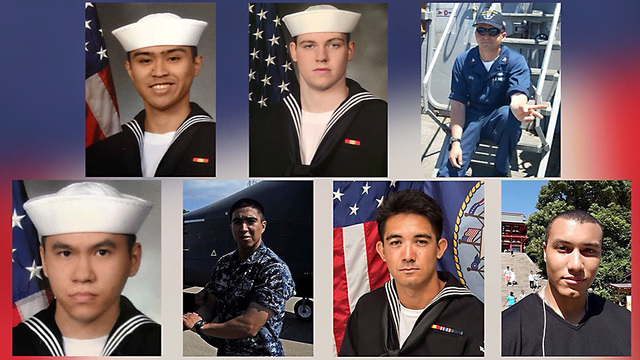 Navy releases names of sailors killed in USS Fitzgerald collision