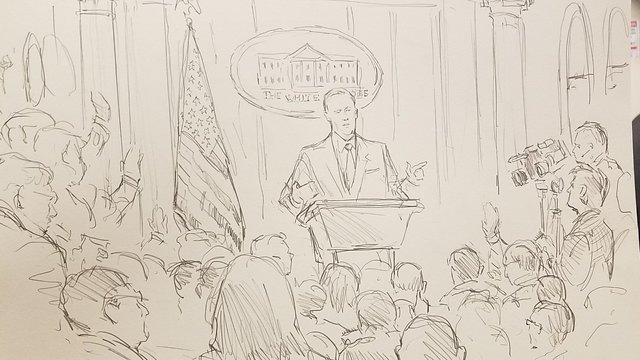 CNN sends sketch artist to White House press briefings