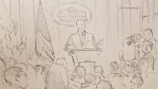 With-cameras-banned-CNN-sends-sketch-artist-to-White-House-