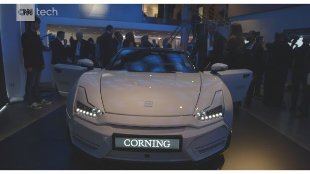 Corning shows off new car with glass dashboard