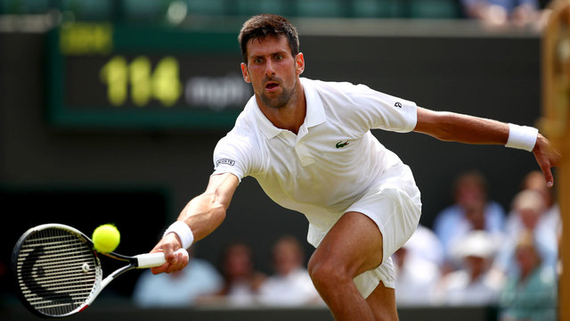 Novak Djokovic powers into third round of Wimbledon