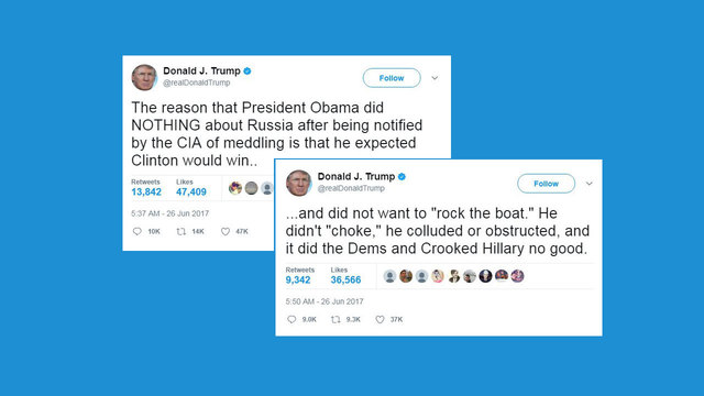 Trump's tweets about Obama and Russia27549642