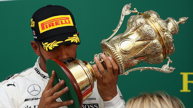British GP: Lewis Hamilton triumphs