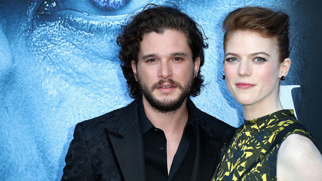Kit Harington and Rose Leslie at Game of Thrones season seven premiere09210799