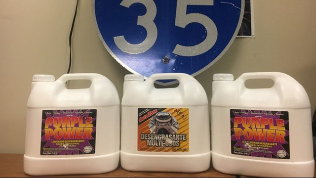 Austin police seize 75 pounds of liquid meth in cleaning jugs