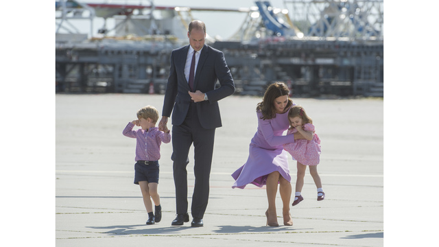 William, Catherine, Prince George, Prince Charlotte, Poland Germany Trip62407014