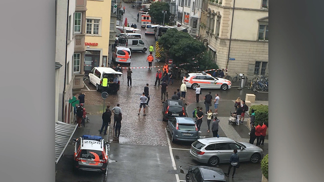 Chainsaw-wielding man wounds 5 people in northern Swiss city