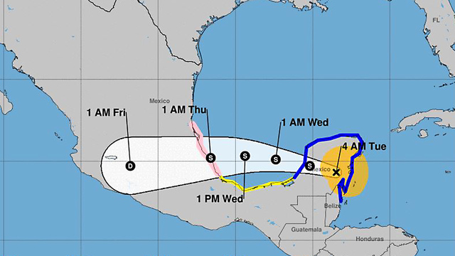 Tropical Storm Franklin nearing landfall in Mexico