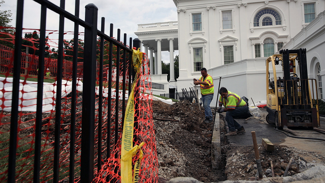 White House Undergoes 'Long Planned' Renovation