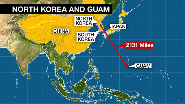 Guam: Caught in the middle