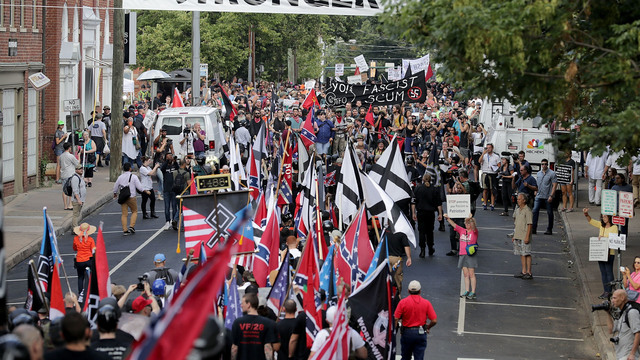 'Blood and soil': Protesters chant Nazi slogan in Charlottesville