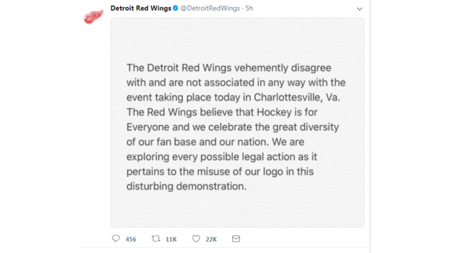 Detroit Red Wings to white supremacists: Stop using our logo