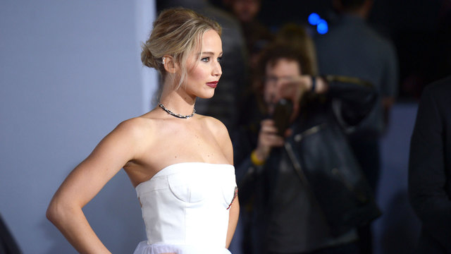 Jennifer Lawrence at Passengers premiere in December 201668741154