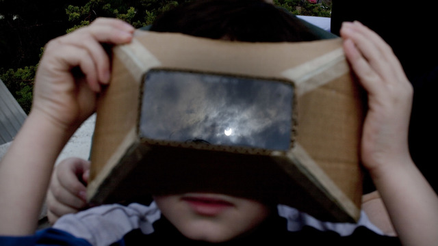 total solar eclipse, glasses, boy, homemade eye protection25847541