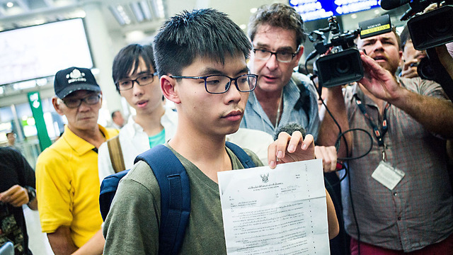 Joshua Wong, two other HK democracy leaders jailed