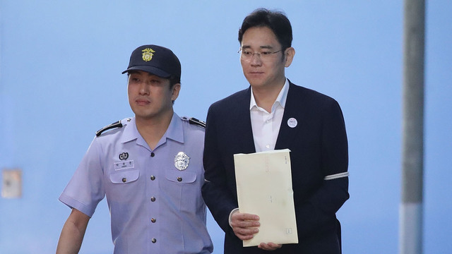 Court sentences Samsung heir to five years prison