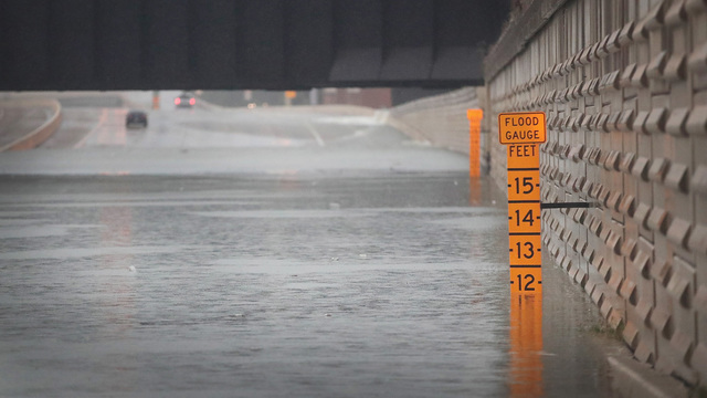 flooding gauge, Houston, Texas, Harvey69977278