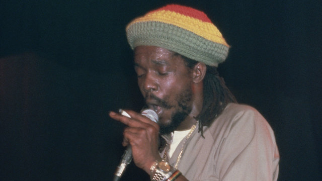 Peter Tosh during 1985 concert09265867