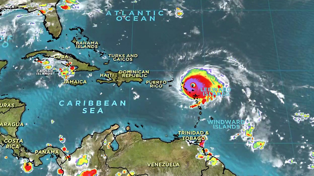 Hurricane Irma Slams Caribbean Islands As It Heads Toward Puerto - Map of puerto rico caribbean islands