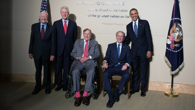 Lady Gaga joins five Ex-Presidents at charity event