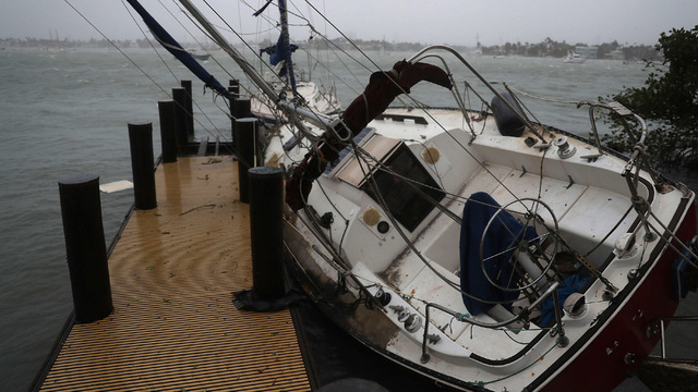 Boat yacht blown over Irma96879571