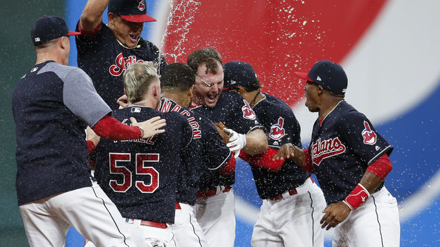 Cleveland Indians celebrate 22nd straight win57543512