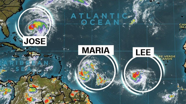 Tropical Storm Maria forms in Atlantic, expected to become major hurricane