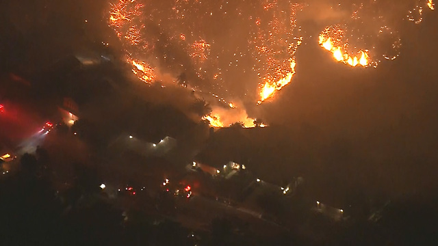 Evacuations ordered as Southern California fire spreads