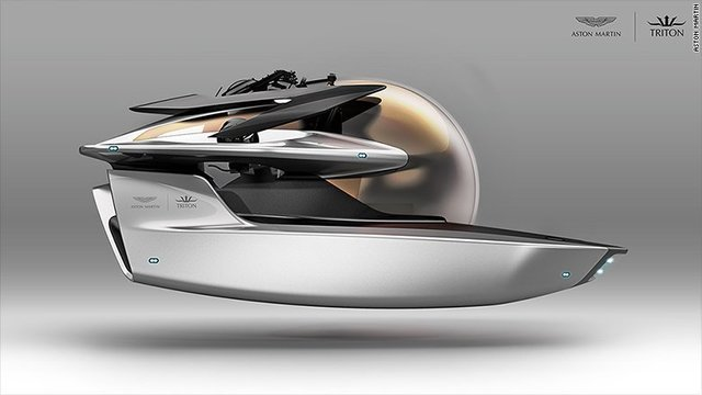 Aston Martin has designed a futuristic submarine fit for James Bond