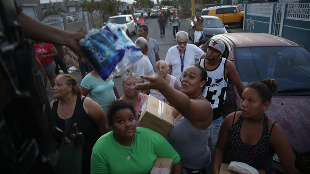 toa baja, puerto rico, hurricane maria, food and water handout38643240