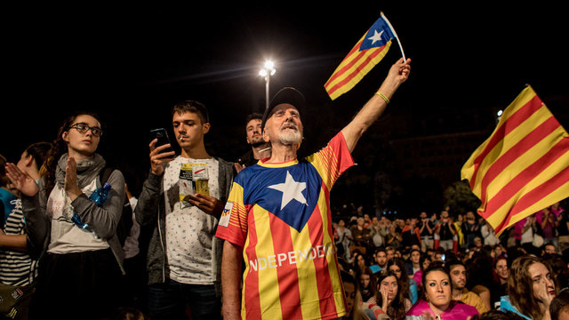 More than 450000 protesters storm Barcelona streets over Catalonia crisis
