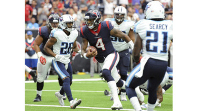 Watson accounts for 5 TDs as Texans down Titans 57-14