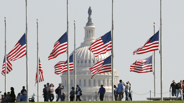 Las Vegas Mass Shooting flags at half-staff at Washington Monument.jpg52125881