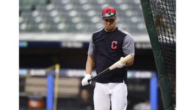 Brantley on Indians' roster vs. Yankees
