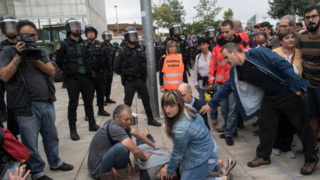 Woman injured Catalonia protests77740239