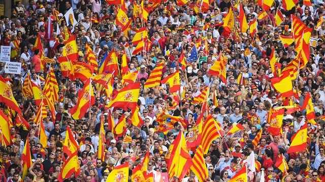 Barcelona, Spain, Catalonia anti independence referendum rally85632854