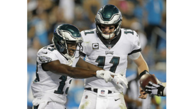 Wentz's 3 TDs get 5-1 Eagles by Panthers