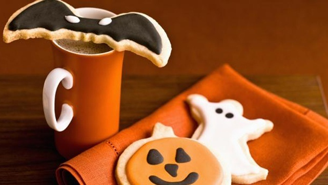Halloween cutout cookies
