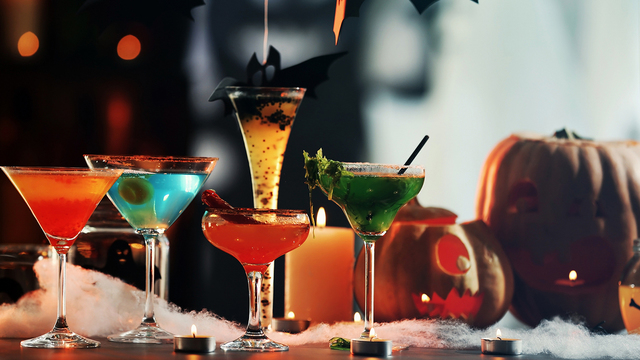 Treat party guests to Halloween-themed cocktails