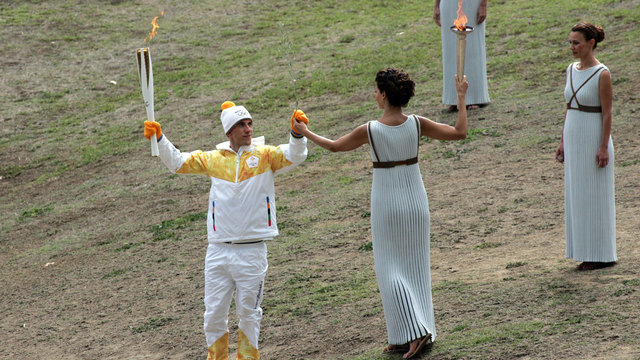 2018 Olympic flame lighting 1247603399
