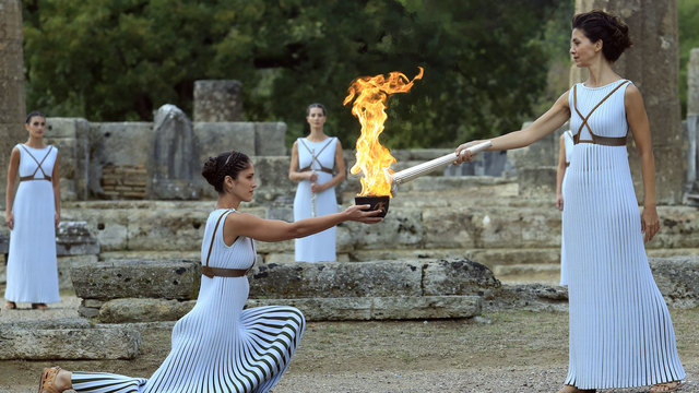 2018 Olympic flame lighting ceremony44945521
