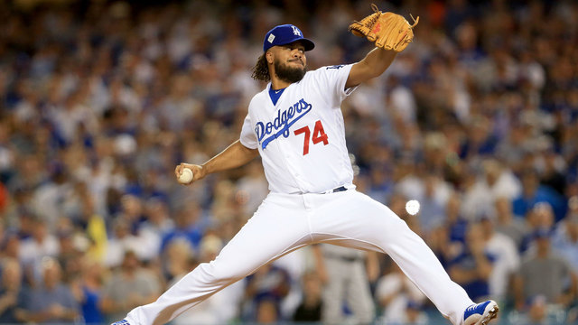 Kenley Jansen pitches ninth inning of Game 1 of 2017 World Series66185586