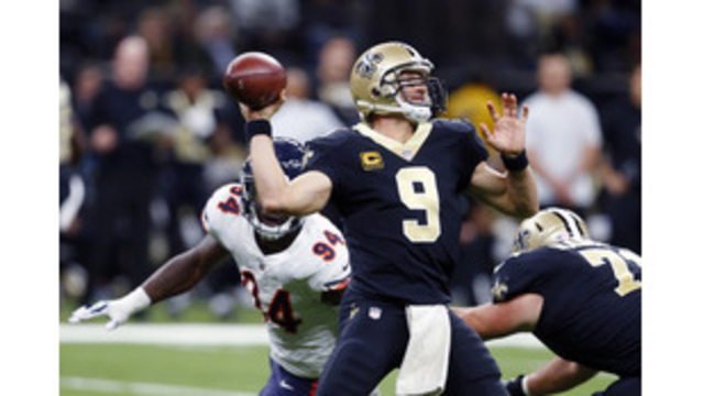 Brees leads Saints past Bears, 20-12, for 5th straight win