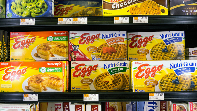 Shoppers are warming up to Kellogg's frozen foods