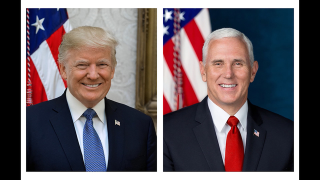 White House releases official portraits of Trump, Pence