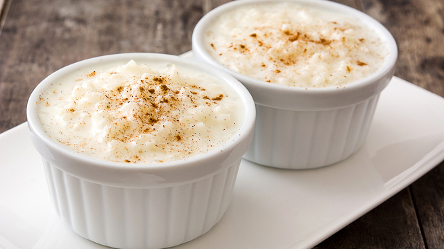 Vanilla rice pudding